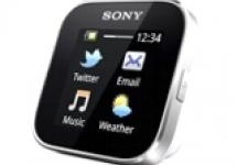 Часы шпаргалка Sony Smart Watch